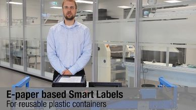 Paperless Logistics - E-paper Displays for Reusable Containers.