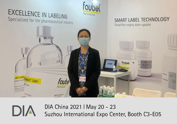 DIA,2021,Faubel,Med Label, Booklet Label, Messe, China, Clinical Trial Labeling