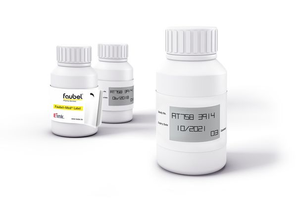 Faubel-Med Label, E Ink E-Paper